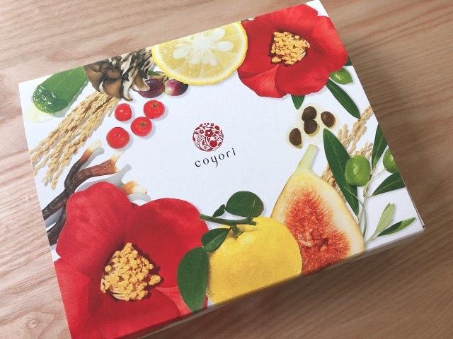 coyori(こより)のトライアルセットの箱の写真